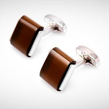 Classic Low-key Luxury Opal Cuff-links for Men