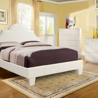 GB7948 - Mark English Style White Finish Queen Bed - Furniture2Go
