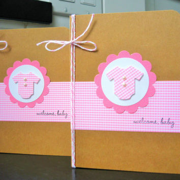 New Baby Card, Baby Shower Card, Welcome New Baby Girl