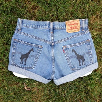 Elephant Shorts, Printed Pocket Shorts, High Waisted Shorts