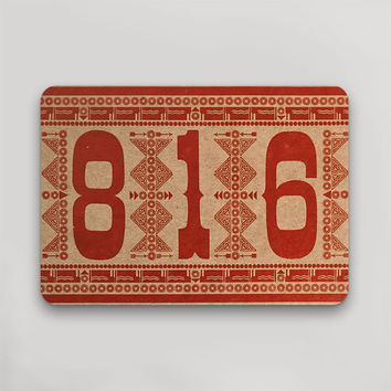 816 Postcard Red