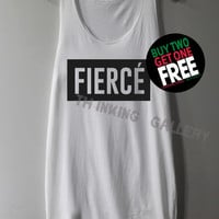 Fierce Shirt Tank Top Tunic TShirt T Shirt Singlet - Size S M L