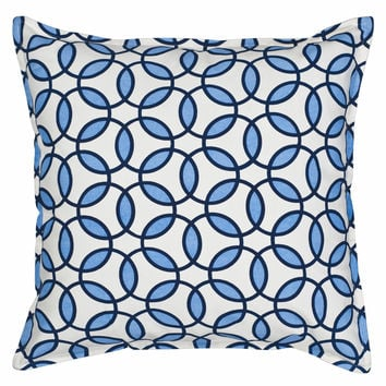 "20"" Square Rings Pattern Toss Pillow"