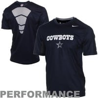 Nike Dallas Cowboys Hypercool Speed Performance T-Shirt - Navy Blue