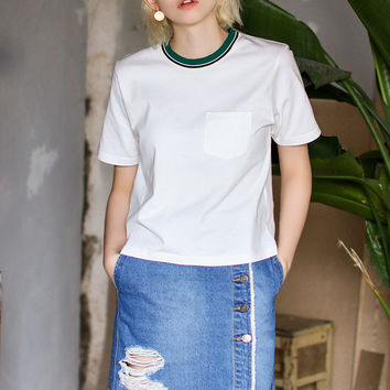 Casual White Tee Shirt