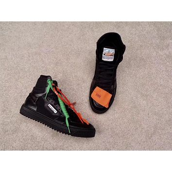 off white c o virgil abloh 18ss low 3 0 black