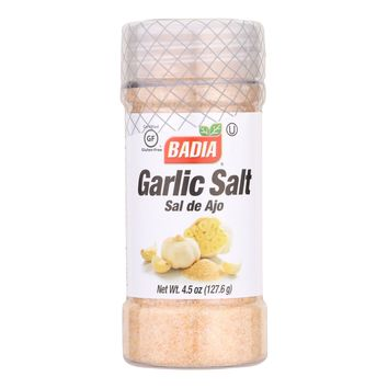Badia Spices Garlic Salt - Case Of 12 - 4.5 Oz.