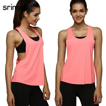 4 Colors Women Sports Shirt Sleeveless Breathable Sport Jersey Cool Loose Yoga Top Fitness Running T Shirt Women Sport Top