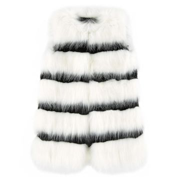 Little Marc Jacobs Striped Fur Vest