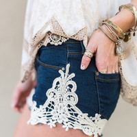 Lacey Denim Cut Off Shorts