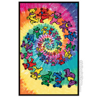 Grateful Dead - Spiral Bear Black Light Poster on Sale for $11.95 at HippieShop.com