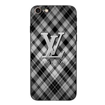 LV Trending Unisex Personality Print iPhone Phone Cover Case For iphone 6 6s 6plus 6s-plus 7 7plus iphone 8  iphone 8 plus  iphone X Grey I