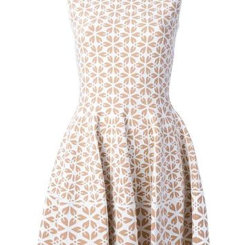 DCCKIN3 Alexander McQueen embossed cut out floral dress