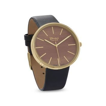 Geneva Leather Unisex Fashion Watch