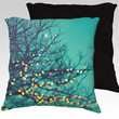 """Christmas pillow,18x18 or 22x22 """"twinkle lights"""",tree branches,turquoise pillow,aqua,whimsical home decor,photo pillow,holiday,nature"""