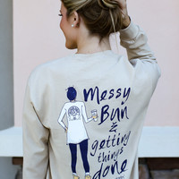 Southern Darlin' - Messy Bun Long Sleeve
