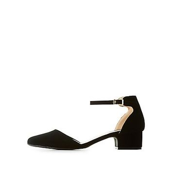 Qupid Ankle Strap D'Orsay Pumps | Charlotte Russe