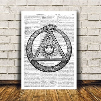 Occult poster Alchemy print Witch art Modern decor RTA235