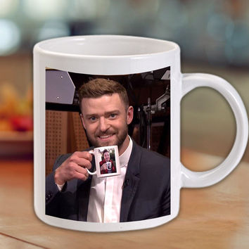 Justin Timberlake & Jimmy Fallon Tea Cup Coffee Mug/Cup
