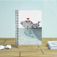 Cat Fish Photo Notebook Auroid