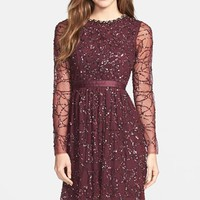 Women's Needle & Thread Embellished Tulle Fit & Flare Dress