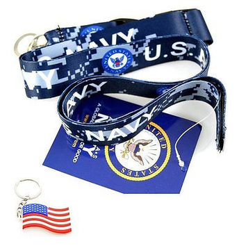 "Official Licensed Products Military ""US NAVY"" Camo Lanyard-Brand New w/ Tags!v2"