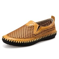 Leather Permeable Summer Men Shoes [6541689347]