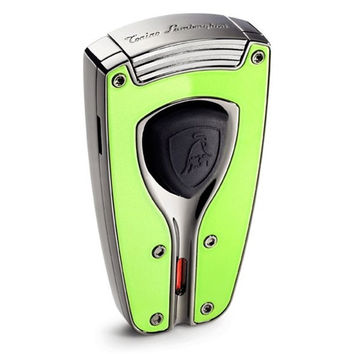 Tonino Lamborghini Forza Green Lacquer Torch Flame Lighter