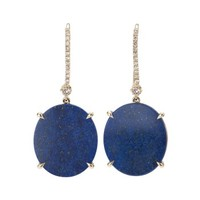 Eternamé Carmin Hook Earrings - Lapis Earrings - ShopBAZAAR