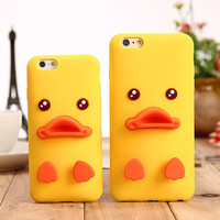 3D Duck Silicone Case Cover for iphone 5s 6 6s Plus  iPhone 7 7Plus Cases + Free Gift Box + Free Shipping 190