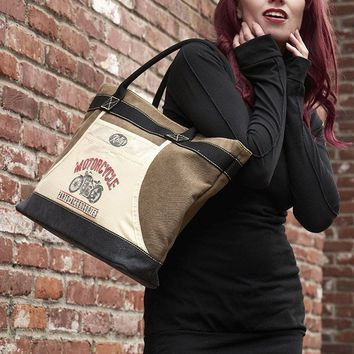 """Motorcylce"" Apron Tote Bag by Trixie & Milo"