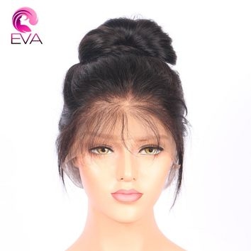 Full Lace Human Hair Wigs With Baby Hair 8''-26'' Pre Plucked Brazilian Remy Hair Glueless Full Lace Wig Bleached Knots Eva Hair