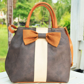 Small Leather Tote Bag with Ribbon by 39Bags on Etsy