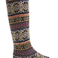 Women's MUK LUKS 'Aubrie' Fair Isle Knit Rain Boot,
