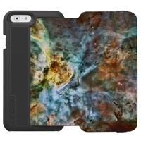 Space: Nebula and Planet, Moon and Stars iPhone 6/6s Wallet Case