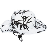 The Bamboo Jungle Hat in White