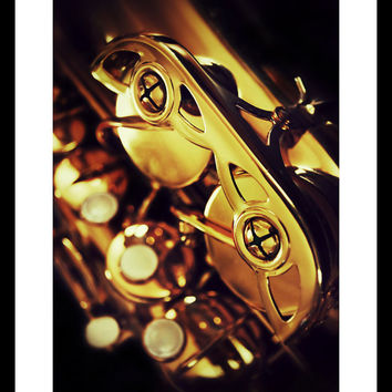 Saxophone Up Close and Personal by FairchildPhotography on Etsy