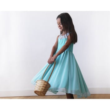 Sweetheart Turquoise flower girl dress 5005