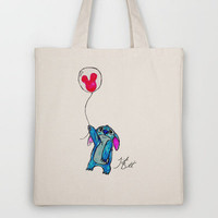 Stitch doesn't want to leave Disney World Tote Bag by Trinity Bennett | Society6