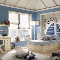 Classic style fitted wooden teenage bedroom for boys/girls 260 - Cordage Navigator Cordage Collection by Caroti