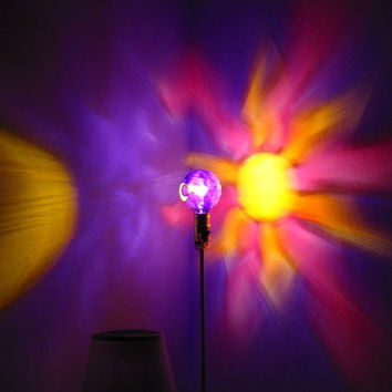 The ORIGINAL Hand-Painted Sun, Moon & Star Mood-Light Bulb 4 Color Therapy, Night Lights, Parties, Mood Lighting