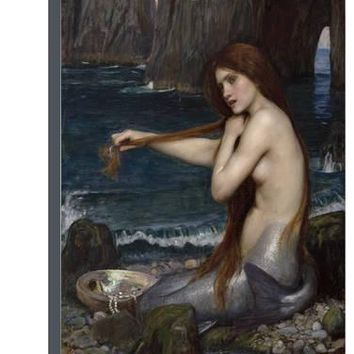 A Mermaid Stretched Canvas Print by John William Waterhouse at Art.com