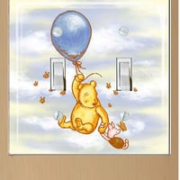 Winne the Pooh and Piglet Double Light Switch Cover