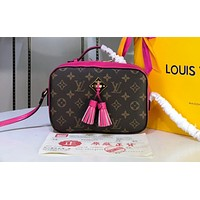 LV Hot Selling All-Printed Woman's Single Shoulder Pack with Multicolor LV rosy red
