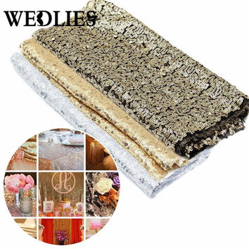 200cm*30cm Table Runners Sparkly Silver/Gold/Champagne Sequin Table Runner Wedding Party Decorations Supply Accessories