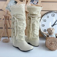 Elegant Suede Closed-toes Boots Women Shoes