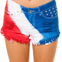 Reverse The Tie Dye Americana Shorts : Karmaloop.com - Global Concrete Culture