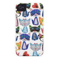 happy pop cats case-mate iphone 4 cases from Zazzle.com