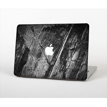 The Cracked Black Planks of Wood Skin Set for the Apple MacBook Pro 13""