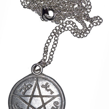 Supernatural Inspired Devil's Trap Necklace